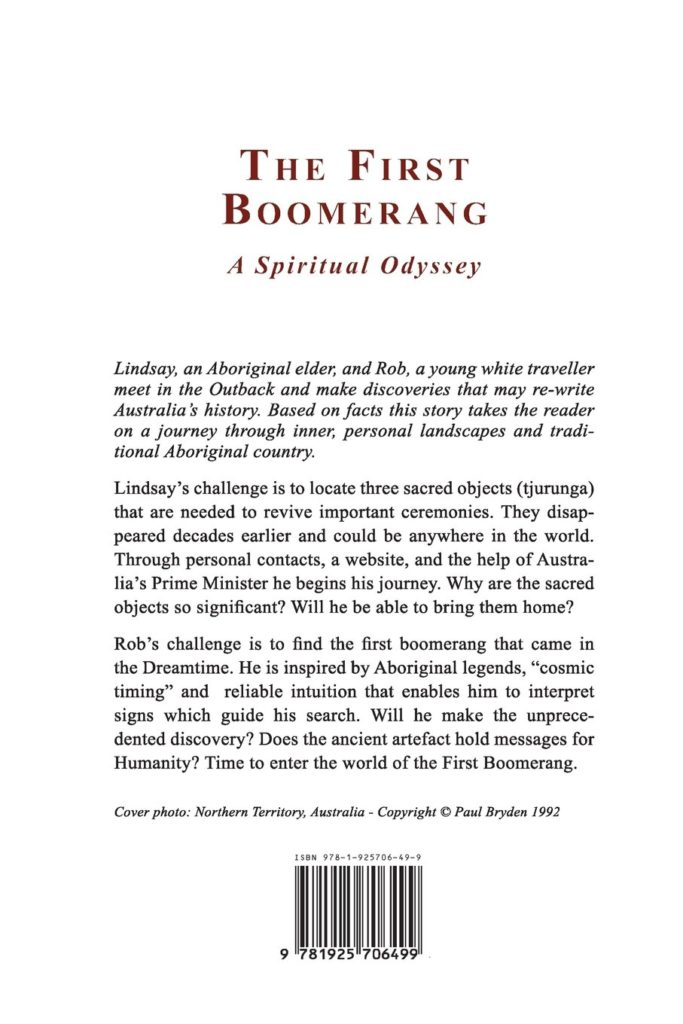 The First Boomerang - Back Cover